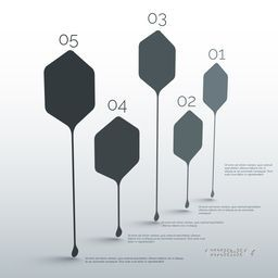 Creative infographic pointer elements with number option for business reports and presentation.