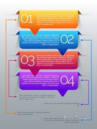 Creative infographic template layout with colorful paper banners for Business concept.