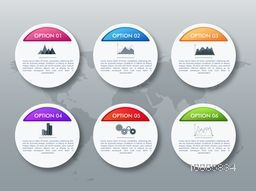 Creative infographic elements layout in circle shape for Business concept.