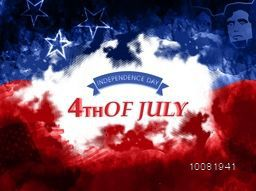 Creative Poster, Banner or Flyer design in American Flag colors for 4th of July, Independence Day celebration.