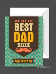 Elegant vintage greeting card design with glossy envelope for Happy Father's Day celebration.