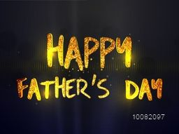 Beautiful greeting card design with Golden Glittering Text Happy Father's Day on shiny background.