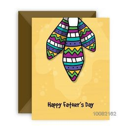 Colorful Ties decorated greeting card design with envelope for Happy Father's Day celebration.