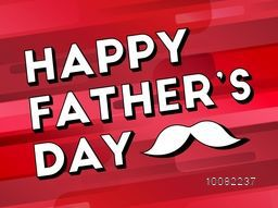 Elegant greeting card design with stylish text Happy Father's Day on abstract background.