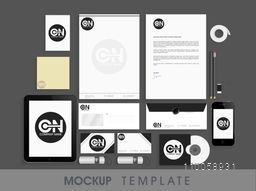 Professional corporate identity kit including Letterhead, Business Cards, Envelopes, CD, Smartphone and Tablet PC.
