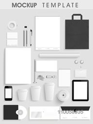 Blank corporate identity kit or mockup template consist of different useful items and gadgets for your business and professional use.