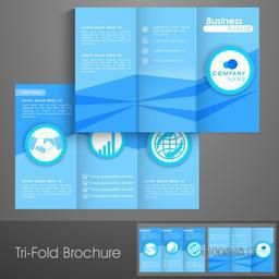 Professional trifold brochure, catalog and flyer template for business concept.