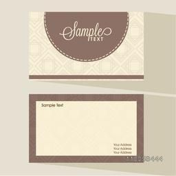Simple two sided presentation of professional business card set with place holder for your text.