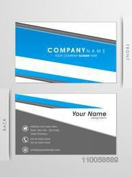 Professional business card or visiting card set with front and back view for your company.