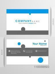 Simple two sided business card design with place holders for your text.