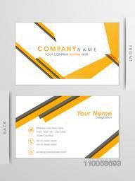 Creative business card or visiting card design with place holders for your Company's detail.