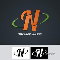 Stylish creative business symbol design with N inscription for your company.