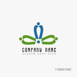 Creative Business symbol in green and blue color for your company.