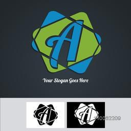 Creative business symbol with A alphabet for your organisation.