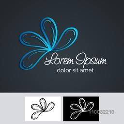 Creative stylish shiny blue corporate icon or business symbol  for your company and organisation.