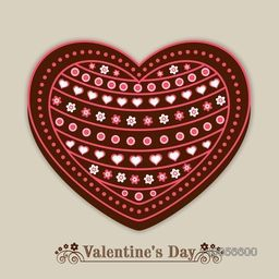 Beautiful creative heart shape on grey background for Happy Valentines Day celebration.