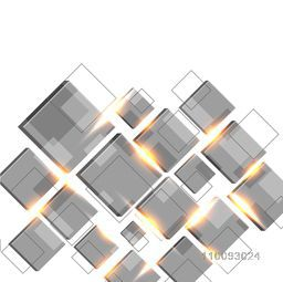 Abstract geometric background with squares and lighting effect or lens flares.