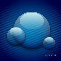 Creative blue abstract background with transparent circles element.