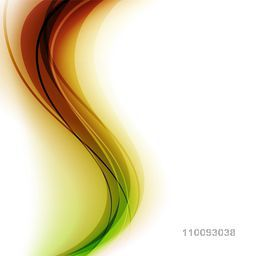 Creative glossy abstract waves decorated background.