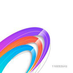 Shiny colorful abstract design on white background.