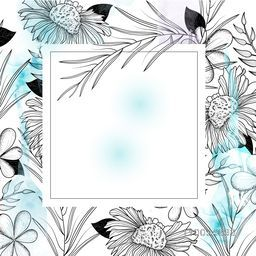 Elegant Greeting Card or Invitation Card design with beautiful flowers and space for your message.